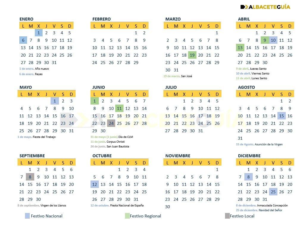 Calendario Laboral Albacete