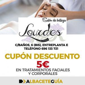 CUPÓN DESCUENTO SALÓN BELLEZA LOURDES