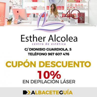 CUPÓN DESCUENTO ESTHER ALCOLEA DEPILACIÓN LÁSER