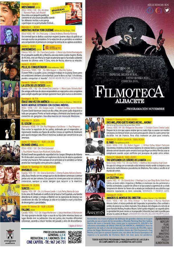 programación de la filmoteca municipal de albacete