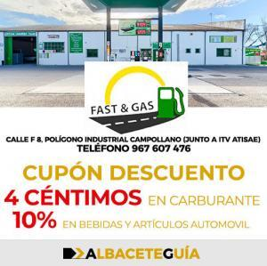 CUPÓN DESCUENTO FAST AND GAS ALBACETE